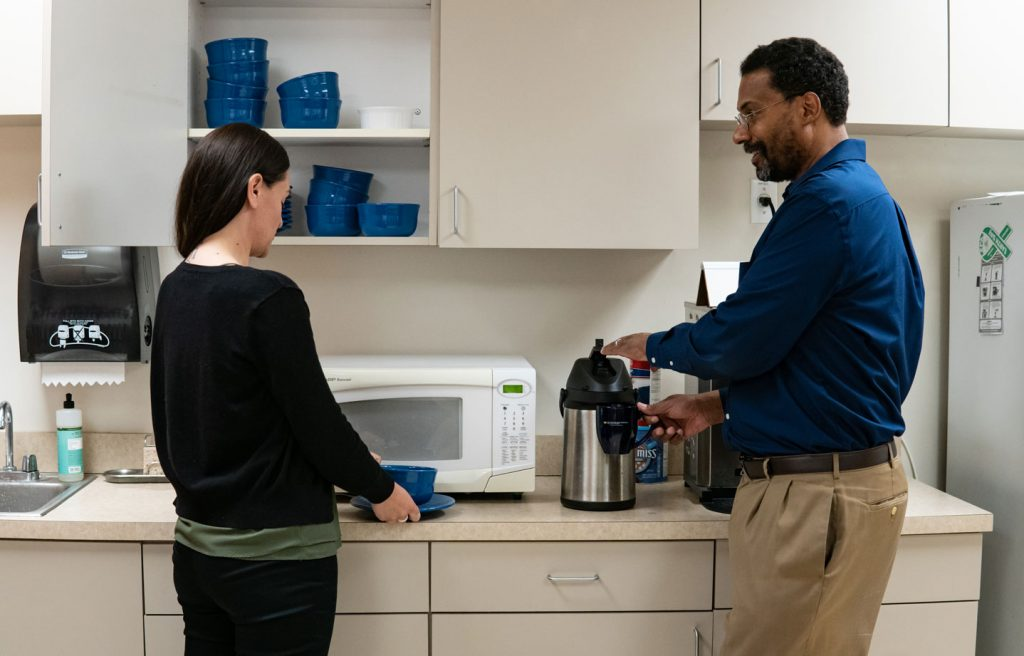 Staff in a Sustainable Kitchen